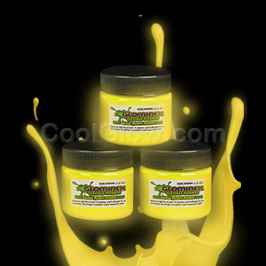 Glominex Glow Paint 1 oz Jar - Yellow